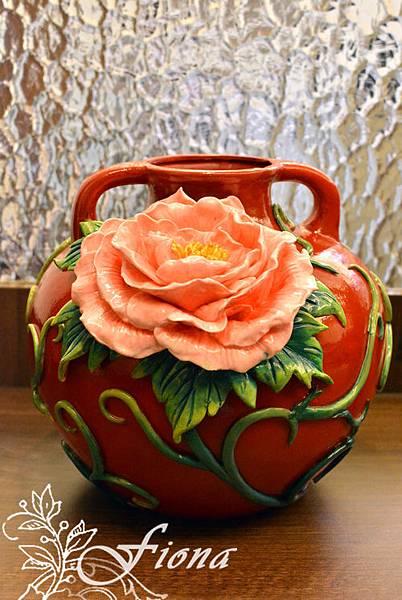 仿瓷花瓶-201502 By Fiona Yang