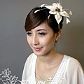 米色聖誕花髮箍 NT1800