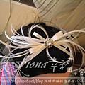 米色鴕鳥毛髮箍NT1800