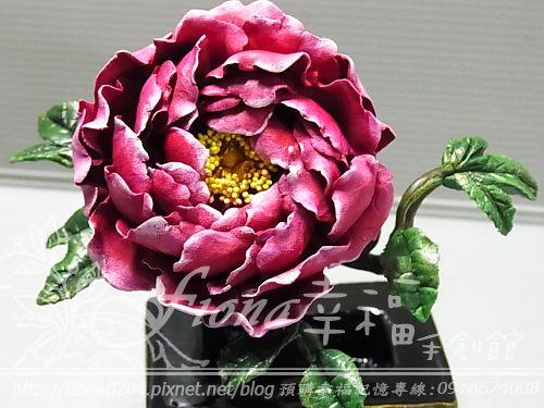 V先生的客製-牡丹花盆栽