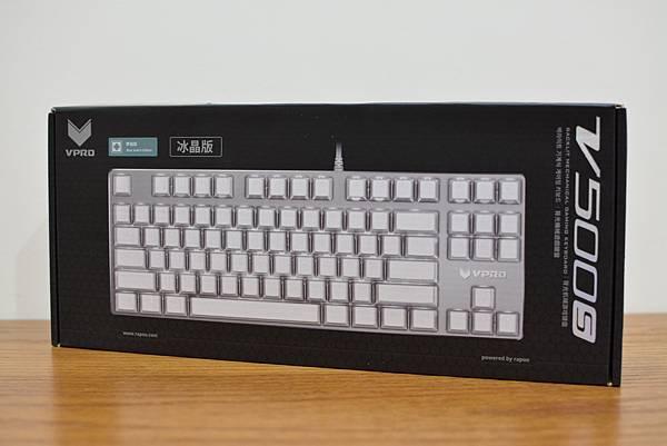 1RAPOO雷柏V500S青軸機械鍵盤(白色水晶版)5.jpg
