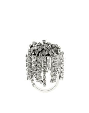Disaya Silver Diamante Tassel Ring.jpg