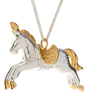 Laura Lee Sterling Silver Curb Chain Necklace with Horse Pendant.jpg