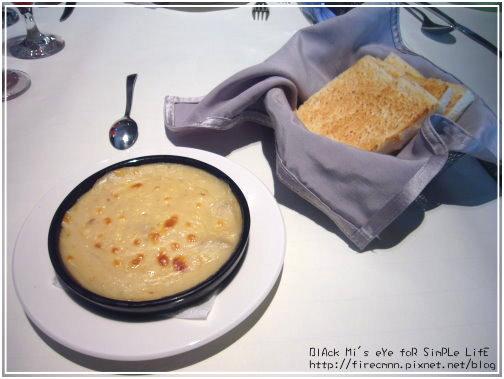 [前菜]焗烤蘑菇+方塊麵包