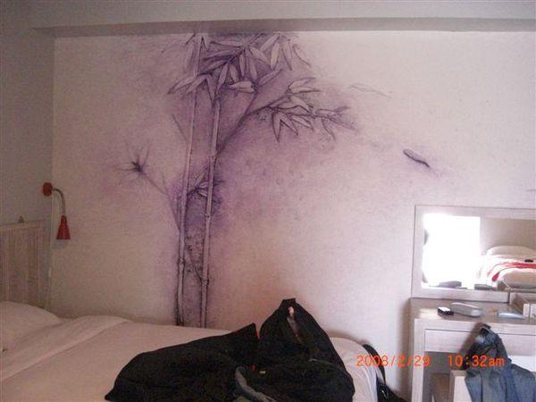 紫色的壁畫