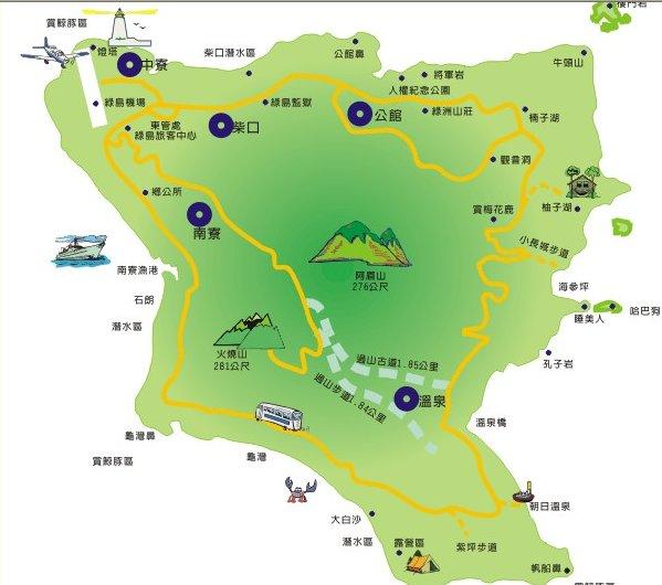 綠島環島地圖