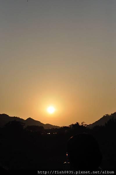 太陽下山了