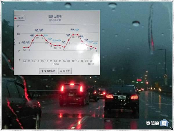 大雨中的車陣