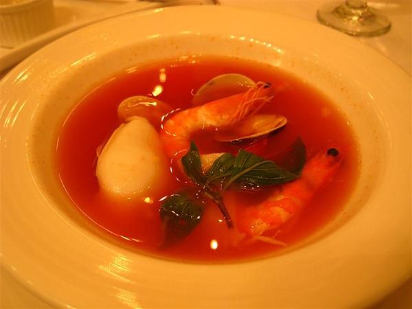 蕃茄鮮蝦清湯