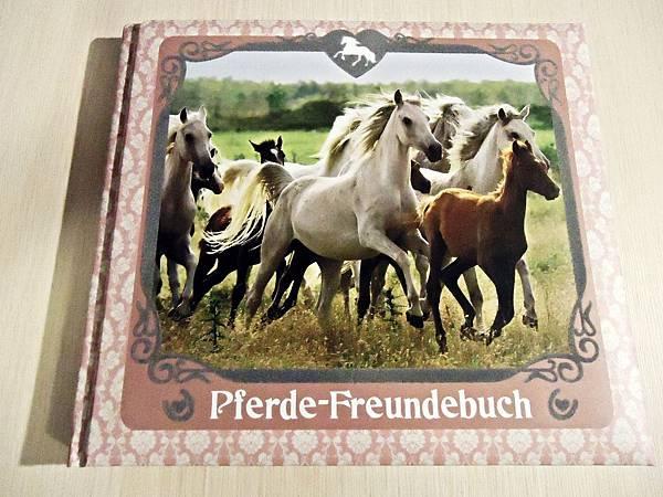 不到八歐元的美麗手記 內頁有好多美麗的馬兒照片  決定買下給可忻當畢業紀念冊