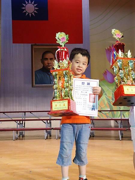 大衛參加珠心算比賽獲得第二名