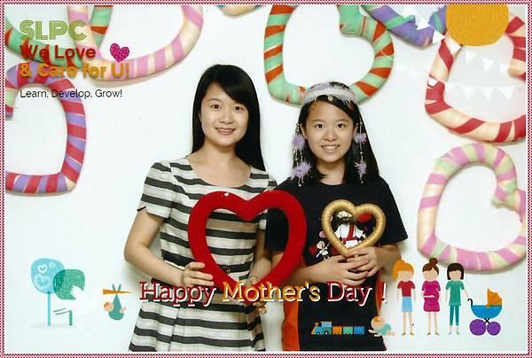 雙連教會資傳會為我們拍攝的母女照 (2015母親節)