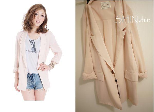 SHIN☆FINAL SALE!!!☆60 Lagunamoon超美雪紡長版西裝外套1880