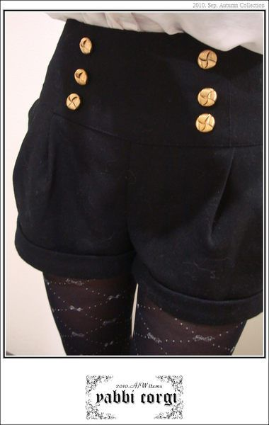 ╮* Yabbi.corgi *╭ 一月衝折扣慶過年 no.18 byebye 下折扣日本製高質感羊毛高腰雙排扣短褲 1350.jpg