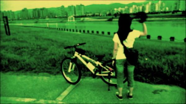 再騎到河濱公園去