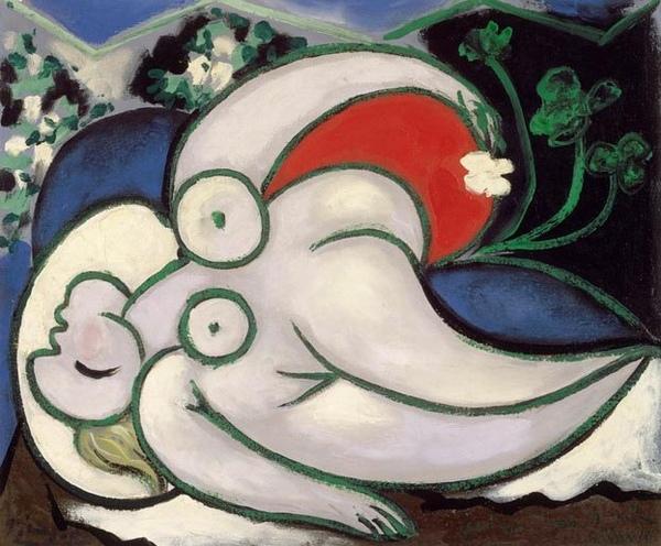 畢卡索-躺著的女人...jpg