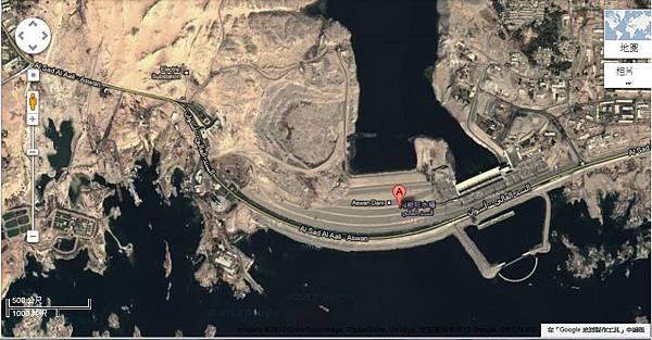 圖二 亞斯文水壩google地圖