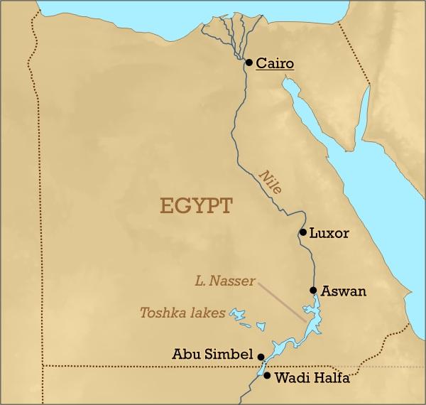 圖一  埃及地圖