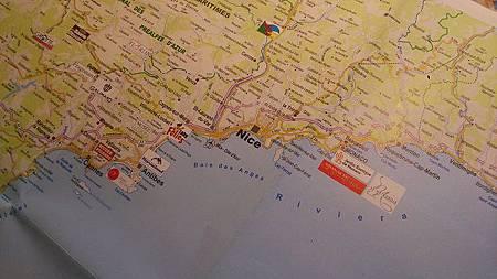 圖三: 南法觀光勝地相鄰城市位置.JPG