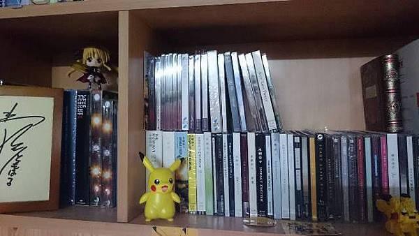 (圖一)洪芷翔的收藏櫃,排列整齊的專輯.jpg
