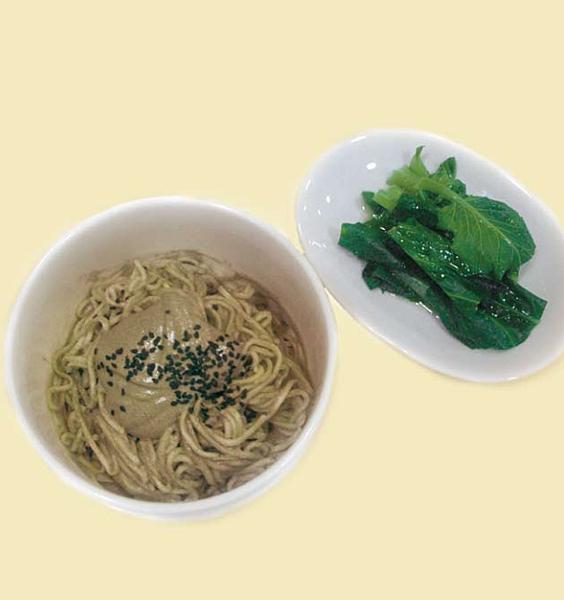 綜合堅果醬麵&藥膳醋燙青菜