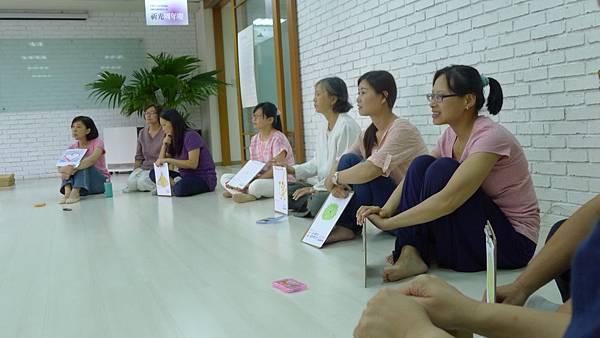 課程後學員們個個神清氣爽,分享自己的對生命的祝福。