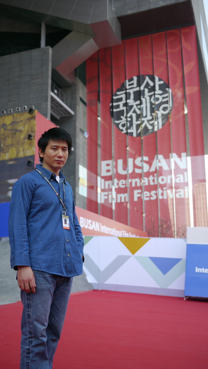 趙德胤在釜山影展會場