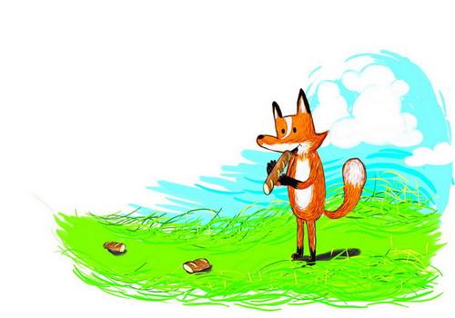 狐狸手繪1