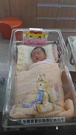 002-嬰兒室裡熟睡中的荳荳_荳多桑攝影