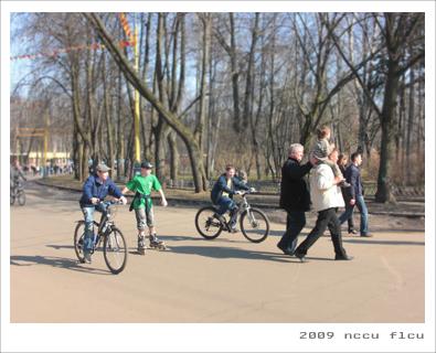 腳踏車與直排輪可說是俄國人最喜歡的戶外活動