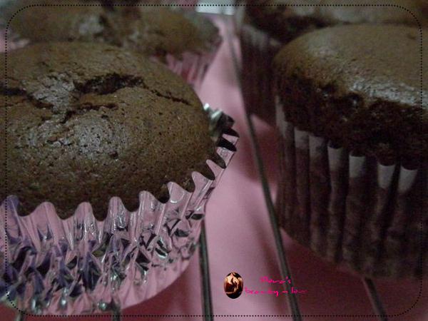 巧克力戚風杯子蛋糕
