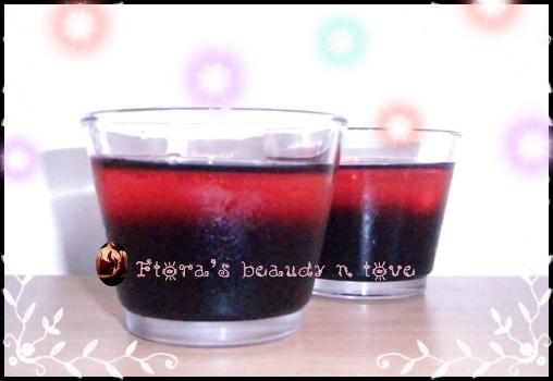 ♨ 葡萄蔓越莓雙色果凍 2009/06/14