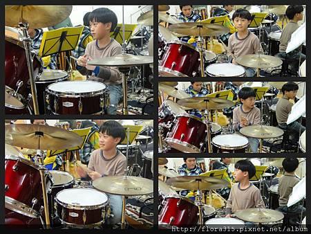 20120322 弟弟第一次爵士鼓課期末表演