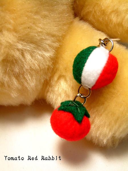 國旗手機吊飾-義大利+蕃茄