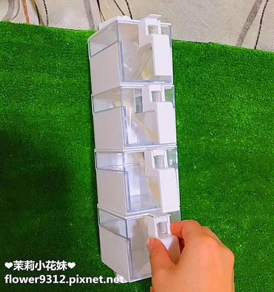 約翰家庭百貨 壁式翻蓋旋轉調味盒 (5).JPG