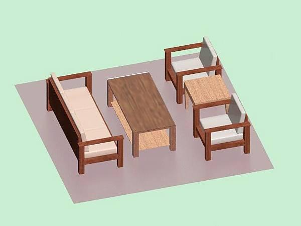 3D_桌椅組