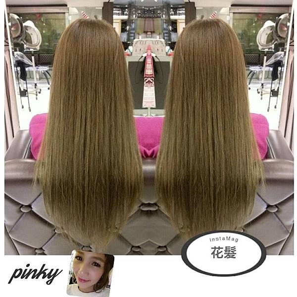 亞麻綠直髮捲髮造型都有不同的層次感喔