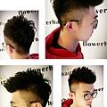 男士剪髮造型(燙捲後3個月)