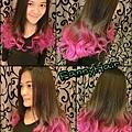 滿滿的粉紅漸層色~擁有美麗的髮色.拍照大加分