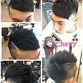 男生分線髮型~流行刻線更有造型