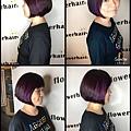 紫羅蘭色調。膚色顯白