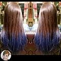 漸層藍靛色