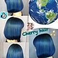 地球人髮色~ 藍配綠完美組合~