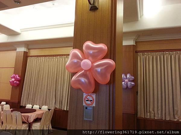 會場內氣球花佈置