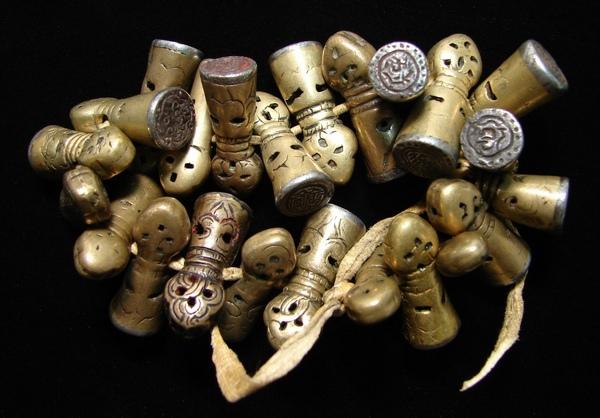 坊間日益珍稀、罕見銅授印章(Mandala Seal)【藏傳老天鐵】(Thogchags)﹗