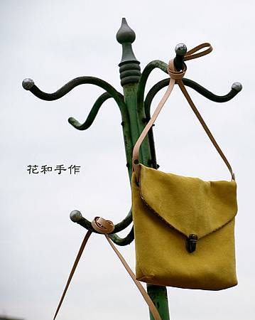 芥末黃立體包|好優雅麂皮絨信封包