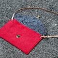 西瓜紅平面包|好優雅麂皮絨信封包