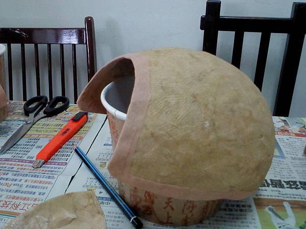 整修後的面具殼
