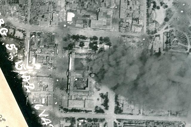 轟炸中的總督府