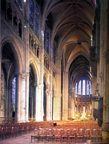 paint-Chartres Cathedral (1194-1260) - Unknown Architect - Interior [10] Nave